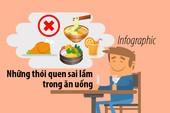 Những thói quen sai lầm trong ăn uống