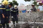Xe máy chở xăng bùng cháy trên đại lộ Phạm Văn Đồng