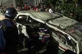 Taxi bị tông văng nhiều vòng, nữ hành khách tử nạn