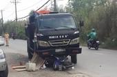 Nam công nhân bị xe ben cán đứt chân tử vong