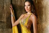 Chung Thục Quyên chọn váy dạ hội hoa sen
