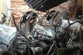 Cháy chung cư Bộ GD-ĐT, 34 xe máy bị thiêu rụi