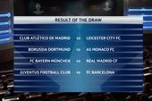 Kết quả bốc thăm C1: Bayern, Real, Barca,Juve 'méo mặt'