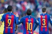 Tam tấu MSN rực sáng, Barca thắng tưng bừng