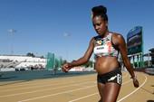 Mang bầu 5 tháng, nữ VĐV vẫn thi chạy 800 m