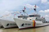 Hạ thuỷ 2 tàu kiểm ngư vỏ thép chạy 19 hải lý/giờ