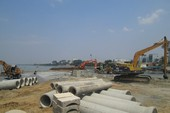 Dự án lấp sông Đồng Nai: Đã san lấp mặt bằng gần xong