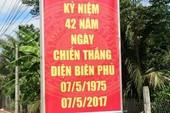 Áp phích ghi chiến thắng Điện Biên Phủ năm... 1975