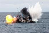 Tàu cá phát nổ, cháy rụi trên biển Bình Thuận