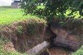 Nhiều hố sụt nghiêm trọng ở nhà máy nước Bình Hưng
