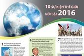 Infographic: 10 sự kiện thế giới nổi bật năm 2016