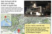 Xe buýt mất lái đâm vào cột điện, ít nhất 16 người chết