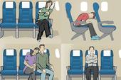 10 tư thế giúp bạn ngủ ngon trên máy bay