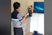 Câu cá trên... tivi