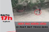 Bản tin 17h: Quét rác xuống cống bị phạt một triệu đồng