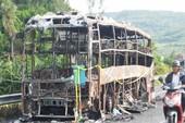 Cháy xe giường nằm, 17 hành khách thoát nạn