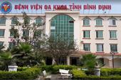 Một phó khoa BV Đa khoa Bình Định bị cách chức