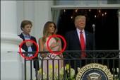 Ông Trump quên chào cờ hát quốc ca, bị vợ nhắc