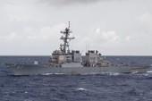 Thủy thủ khu trục hạm Mỹ mất tích ở biển Đông