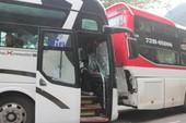 Lâm Đồng báo cáo vụ 2 xe khách 'dìu nhau' trên đèo