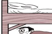Một sinh viên trốn gầm giường cả đêm