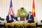 Bí thư Đinh La Thăng tiếp Ngoại trưởng John Kerry