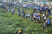 550 sinh viên, thanh niên khơi thông rạch Cầu Suối