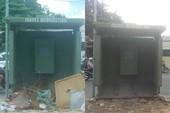 Đã dẹp bãi rác vây trạm xe buýt