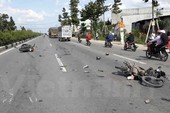 5 người thương vong vì hai xe máy va chạm