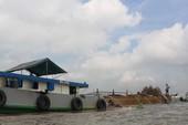 Lượng cát thượng nguồn về Bến Tre ngày càng giảm