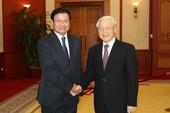 Tổng Bí thư Nguyễn Phú Trọng tiếp Thủ tướng Lào