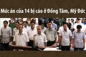 Mức án của 14 bị cáo trong vụ sai phạm đất ở Đồng Tâm
