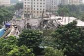 Hà Nội: Trường mầm non đang xây dựng bị sập