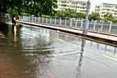 Đường bên kênh Nhiêu Lộc - Thị Nghè bất ngờ bị ngập
