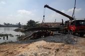 Sạt lở lớn ở điểm kinh doanh cát, sát sông Sài Gòn