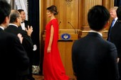 Bà Melania Trump lộng lẫy dự quốc yến ở Nhật