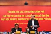 Tổ công tác của Thủ tướng làm việc với Bộ TT&TT