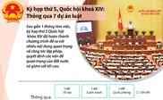 Kỳ họp thứ 5, Quốc hội khoá XIV: Thông qua 7 dự án luật