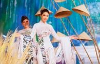 Ngắm mỹ nhân qua áo dài Trúc Việt của NTK Việt Hùng