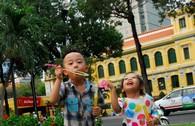 Chùm ảnh Sài Gòn chiều cuối tuần