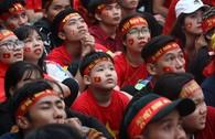 Cổ động viên nhí Đà Nẵng hào hứng cổ vũ U-23 Việt Nam