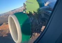 Hành khách hoảng loạn vì nắp đậy động cơ máy bay rách toạc