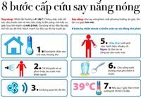 8 bước cứu chữa người bị say nắng, say nóng