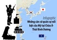 3 căn cứ nổi bật của Mỹ tại châu Á-Thái Bình Dương