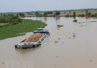 Dân lo bờ sông Vàm Cỏ Đông sạt lở vì khai thác cát