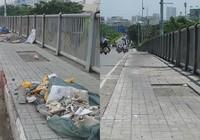 Đã sạch rác trên cầu Tân Thuận