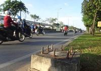 'Bàn chông' trên xa lộ Hà Nội