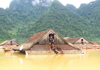 Sông Ngàn Phố ở mức đỉnh, cảnh báo lũ trên diện rộng