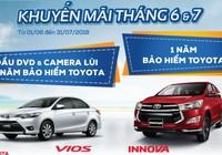 Toyota khuyến mãi mua xe Innova và Vios trong tháng 6 và 7