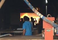 Cháy dữ dội xưởng keo và xưởng gỗ tại Bình Chánh